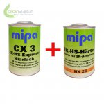 5 Ltr. Set MIPA CX3 HS Express Clearcoat incl. H�rter HX25