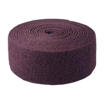 Abrasive fleece red white 100mm x 10m roll