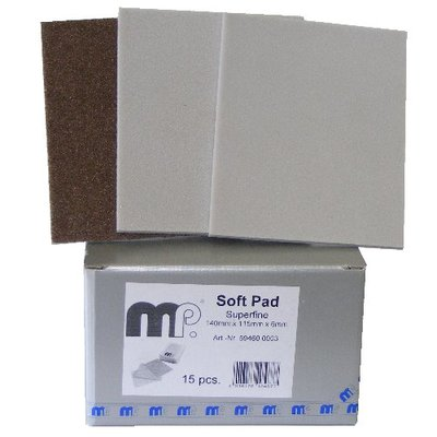 MP Soft Pad - Schleifpad 140mm x 115mm - Superfine, VE=15Stk.