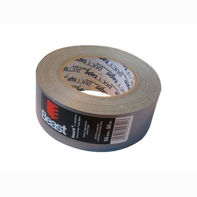 Fabric adhesive repair tape duct tape silver 50mm x 25m /...