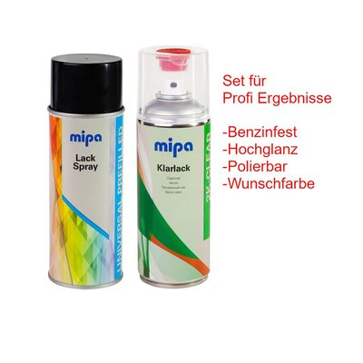 MIPA BC Auto Spray Wunschfarbe + 2K clear coat spray per...