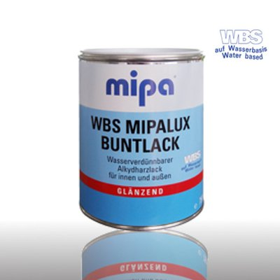 WBS Mipalux Buntlack GL, RAL3000 feuerrot 2,5Ltr.