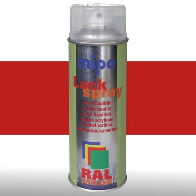 MIPA Acryllack RAL Color Farbspray 400ml RAL3000 - feuerrot