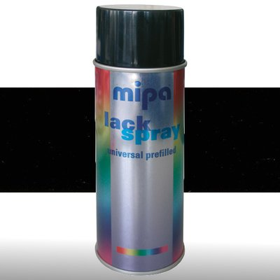 MIPA Acryllack RAL Color Farbspray 400ml RAL9005 -...