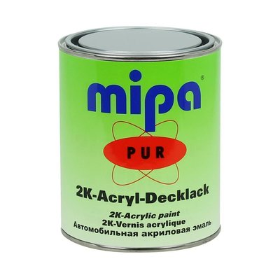 MIPA 2K PUR acrylic lacquer finished RAL 9005 black 1Ltr....