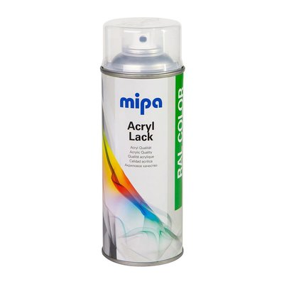 MIPA car paint clear coat spray glossy, 400 ml