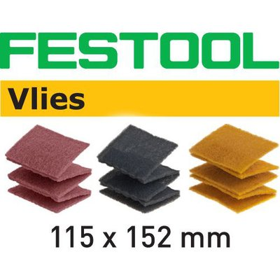 FESTOOL Schleifvlies-Pads 115x152mm P100-P1000, 25/30Stk.