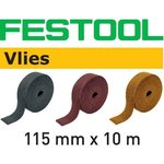 FESTOOL Schleifvlies-Rolle 115mm x 10m, P100-P1000