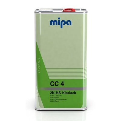 MIPA CC4 2K HS clear coat with UV filters, VOC clearcoat...