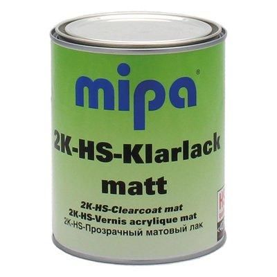 MIPA 2K HS clearcoat matt 3.1 VOC matte varnish colorless...