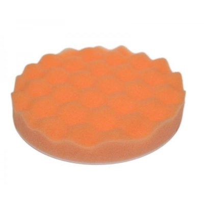 3M 02362 Polierschwamm gewaffelt, orange, Ø133mm