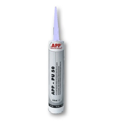APP PU 50 polyurethane seam sealant white, 310ml