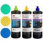 3M Perfect-it III Schleifpasten Set grün, gelb, blau, 3x1kg