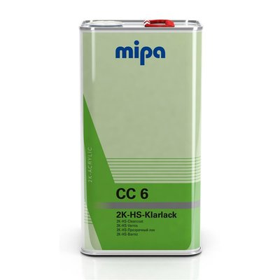 MIPA CC6 2K HS clear coat with UV filter VOC clearcoat...