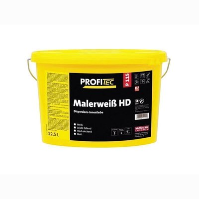 ProfiTec P115 Painter White HD wall color matt 5 / 12.5 Ltr. White / antique white / Mix