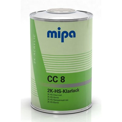 MIPA CC8 2K HS clearcoat for VOC air drying, 1 Ltr.