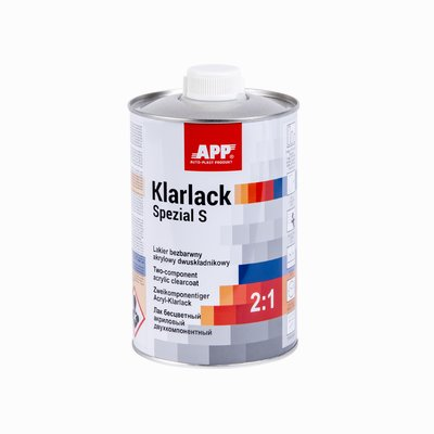 APP 2K HS clearcoat special scratchproof S 2:1, 1 Ltr.