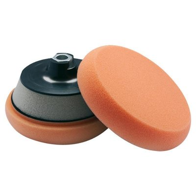 SCHOLL Polishing sponge orange Velcro universal Ø90x25mm