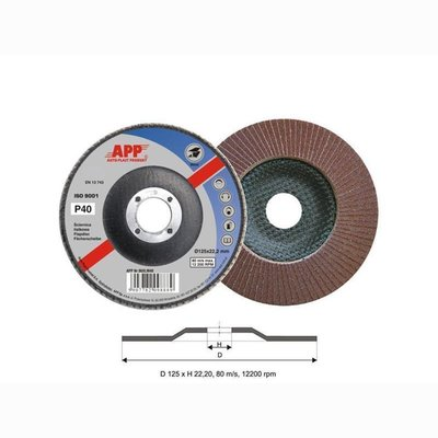 APP flap disc Ø125mm x 22.2 P 40-80