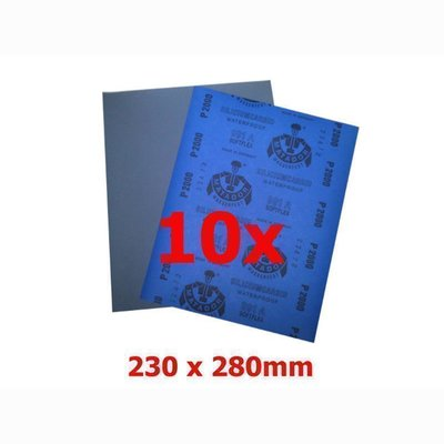 APP M991 Sandpaper waterproof 230 x 280 mm P 240, 10 sheet