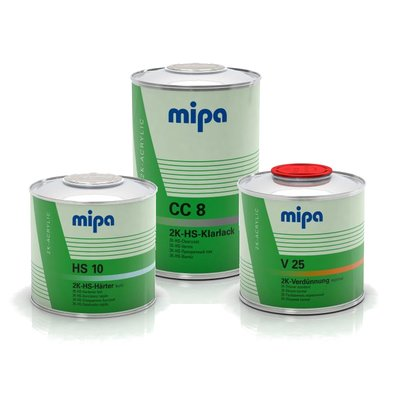 2L Set MIPA CC8 2K HS clearcoat air drying incl. Hardener...